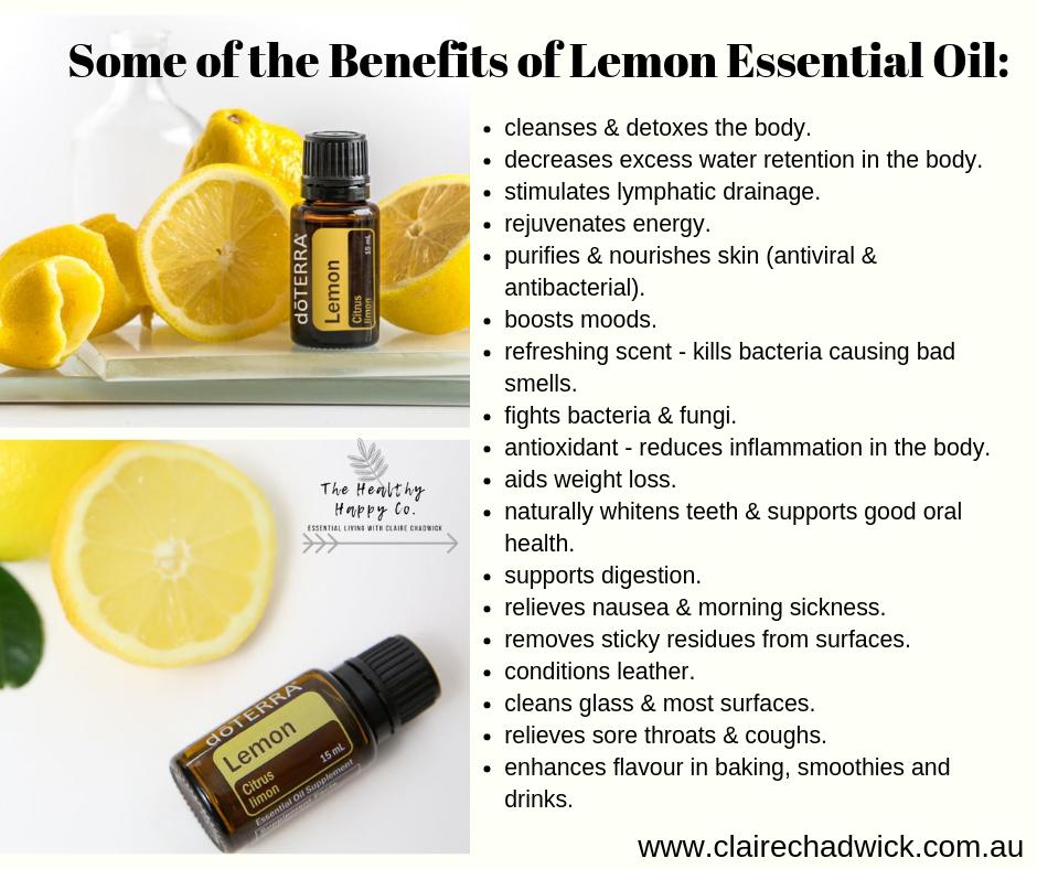 using lemon essential oil