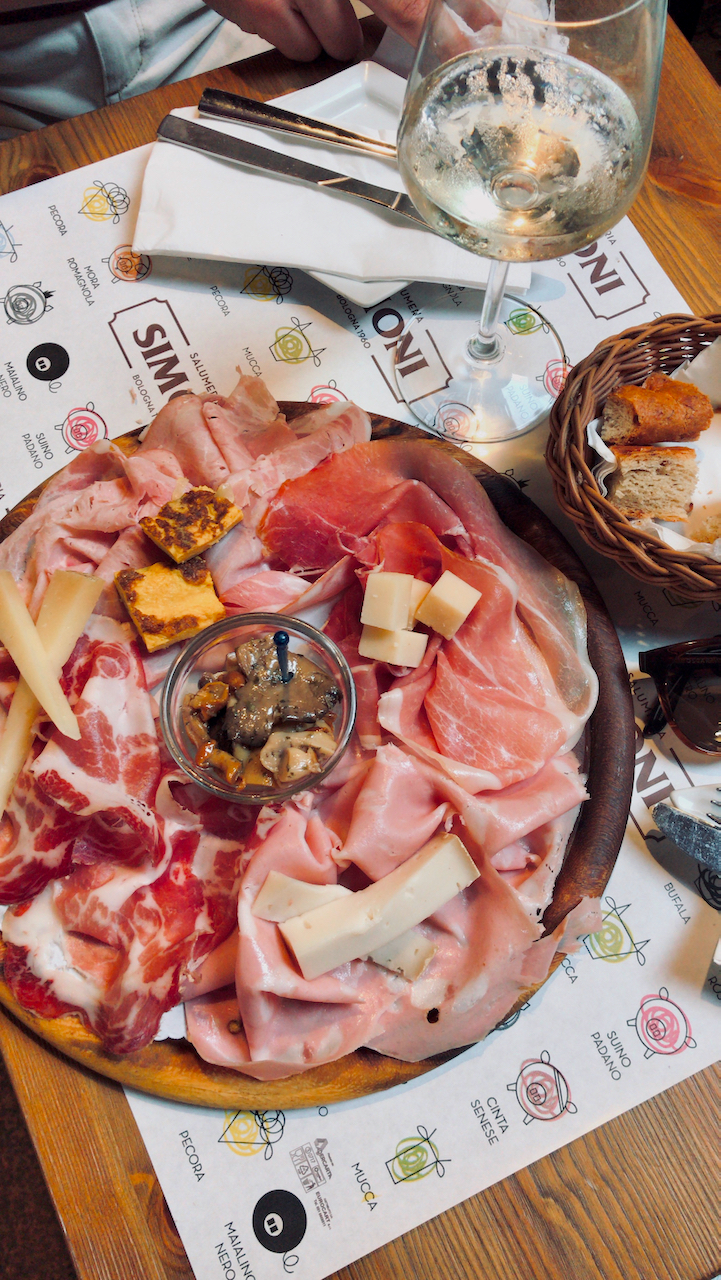Cold meats and cheese from Salumeria Simoni