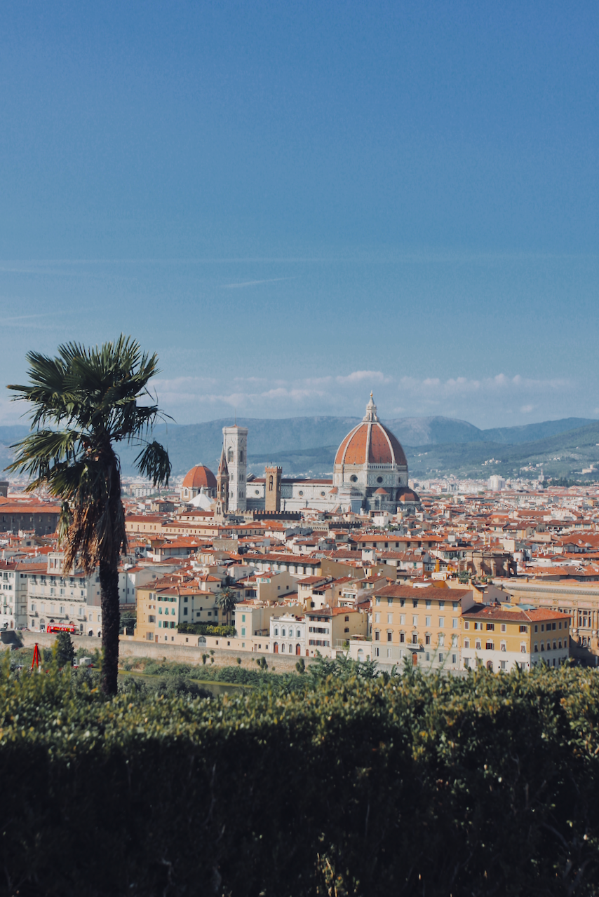 View of Florence and the Basilica of San Lorenzo from Piazzale Michelangelo