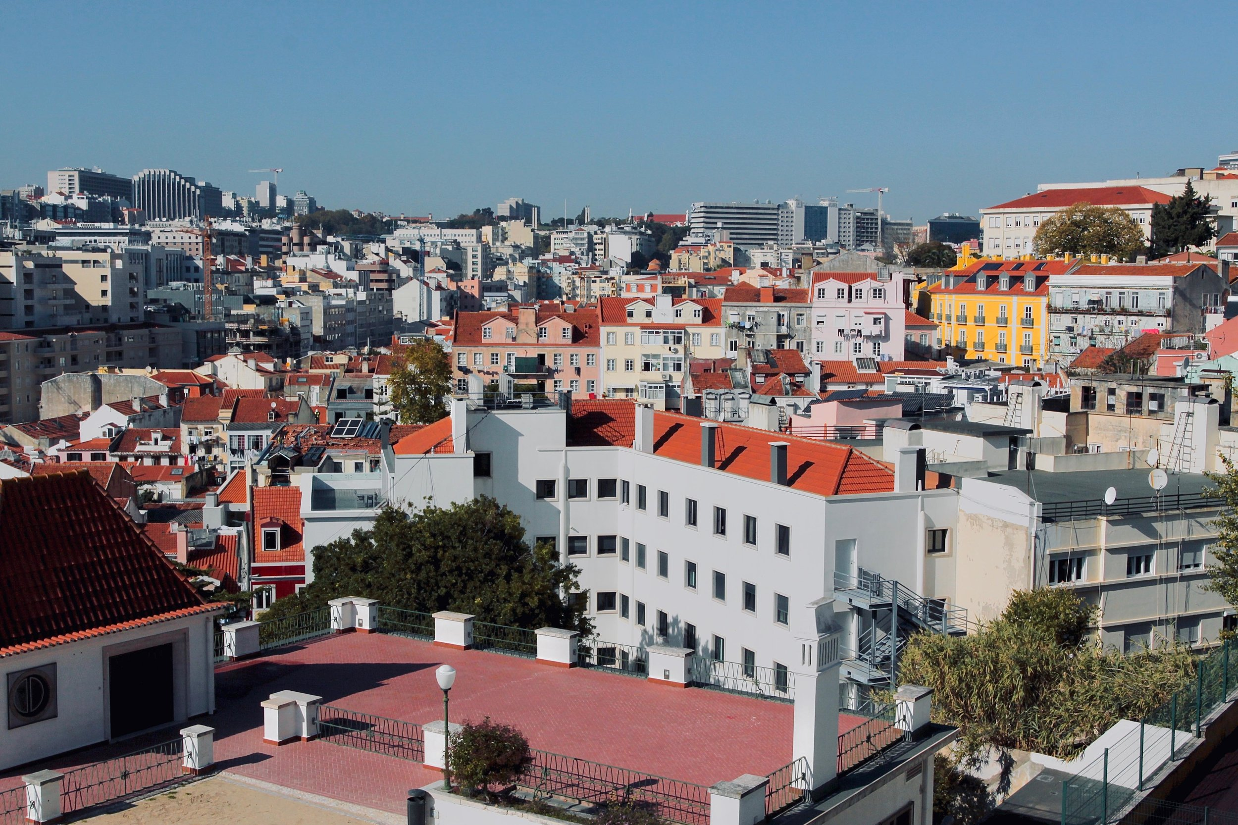 Unique experiences over 2 days in Lisbon, Portugal. View of Lisbon from Jardim do Torel