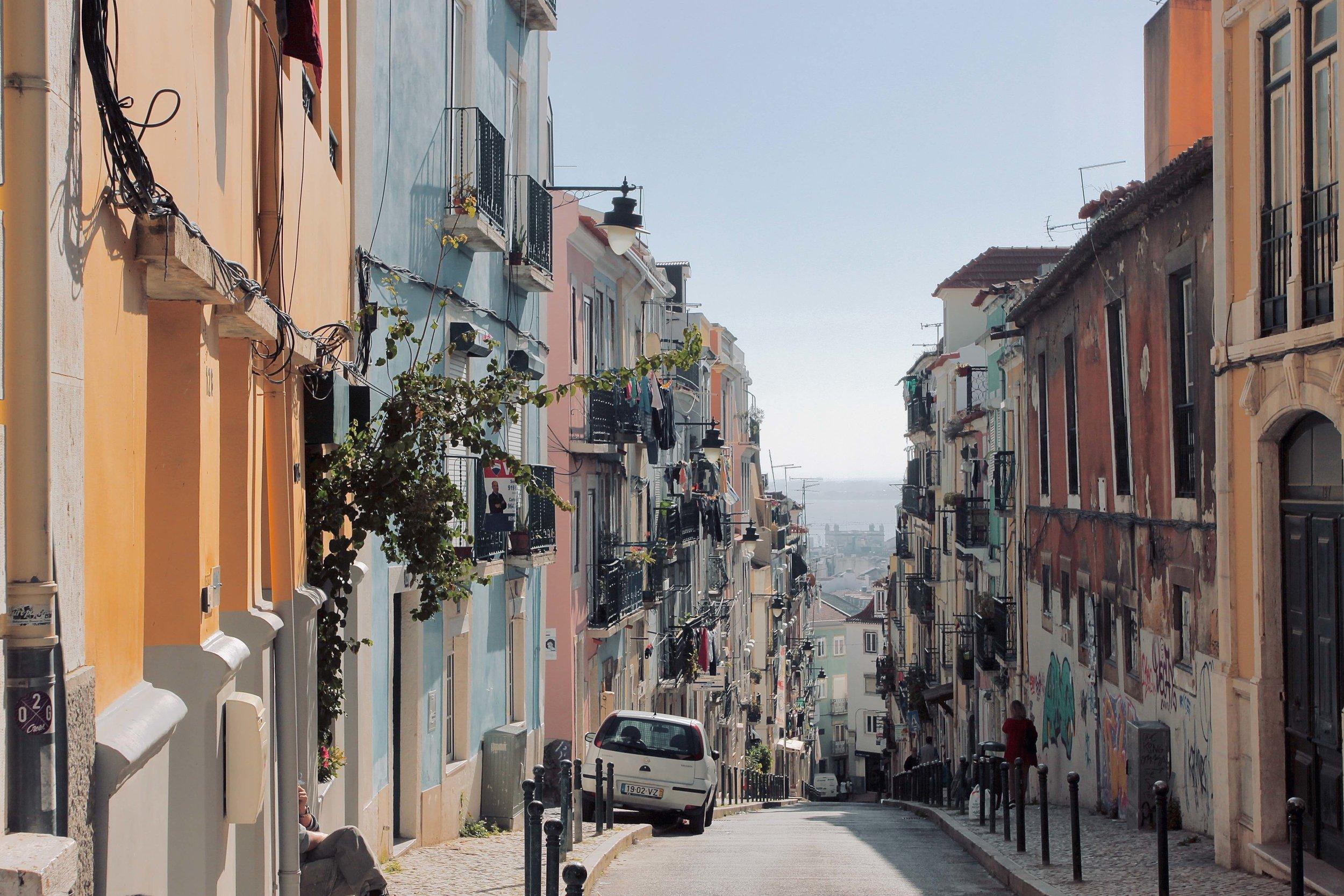 Colourful streets of Bairro Alto