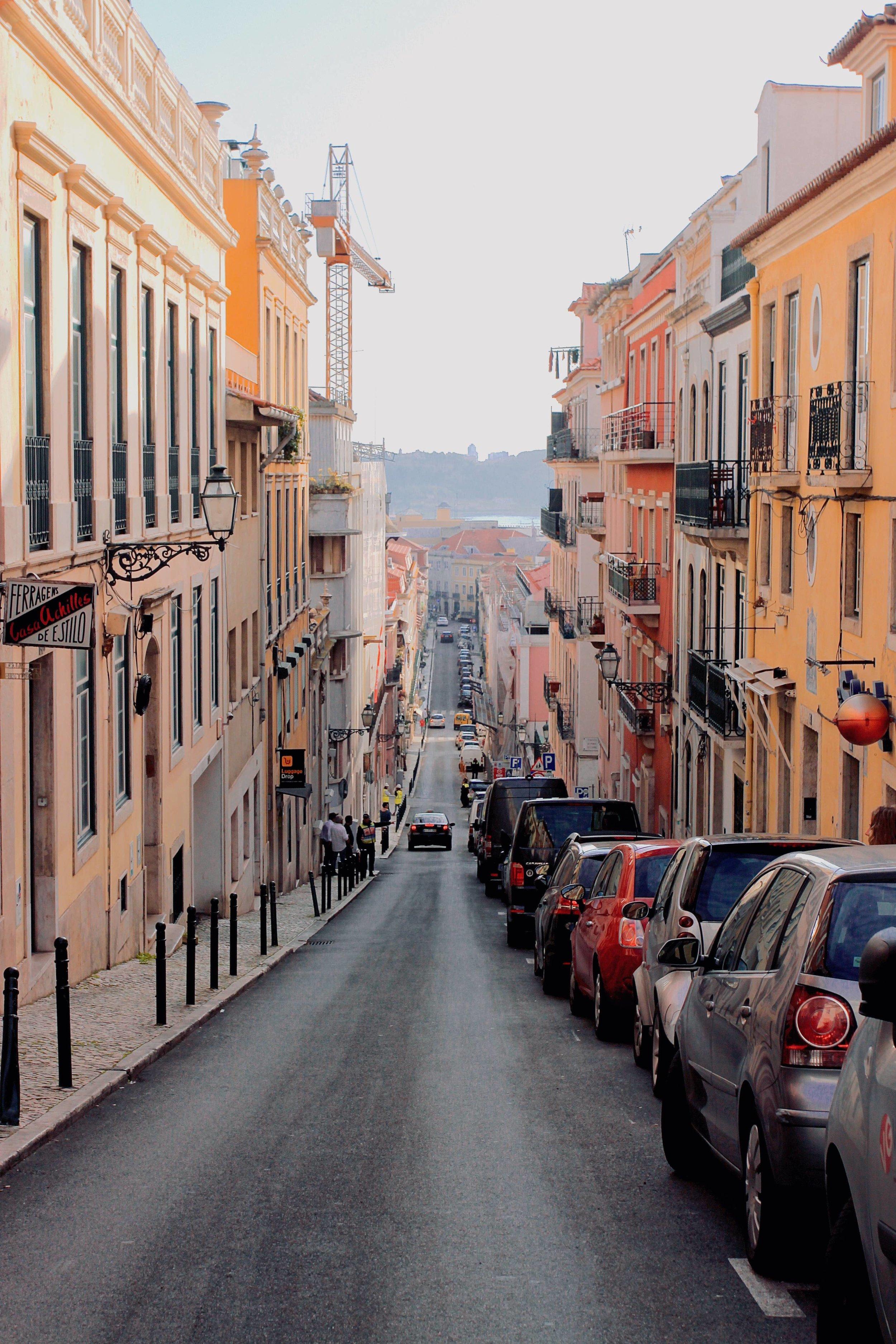 Steep hills of Lisbon