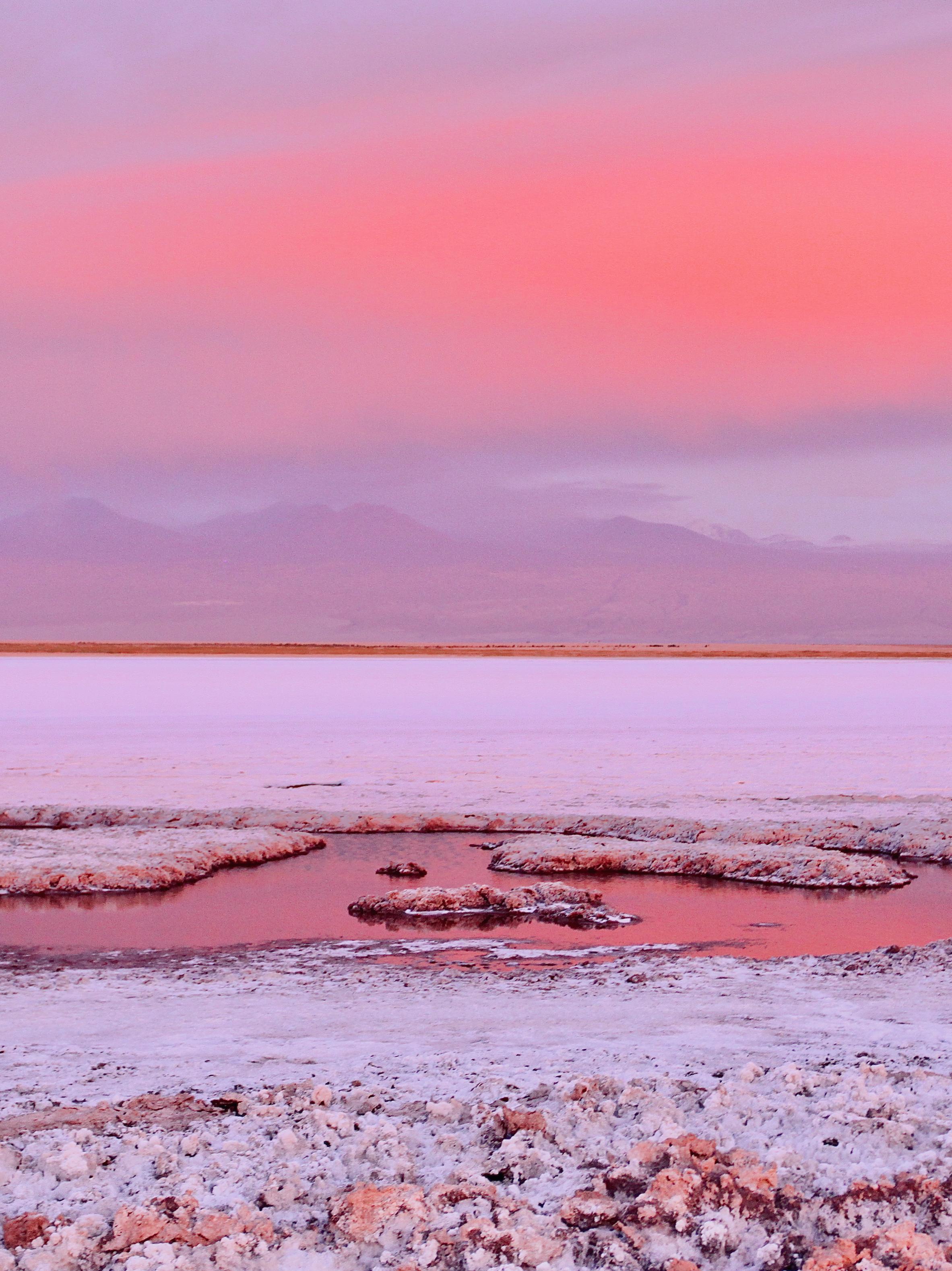 Atacama Desert at sunset