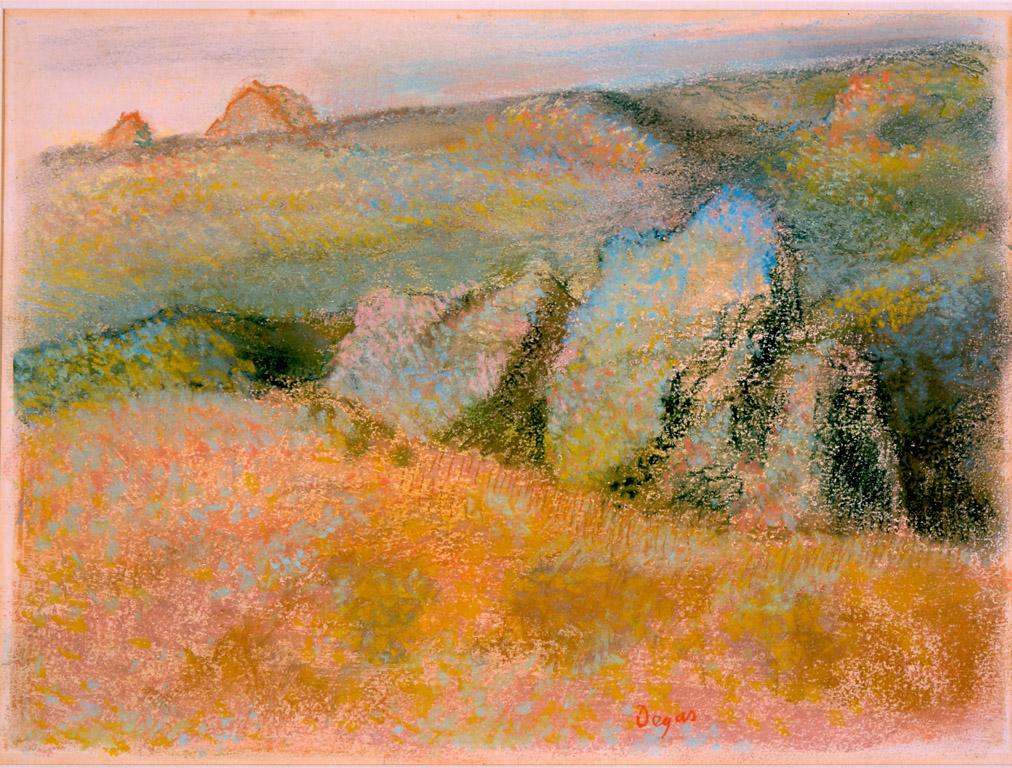 Landscape with Rocks,  Edgar Degas