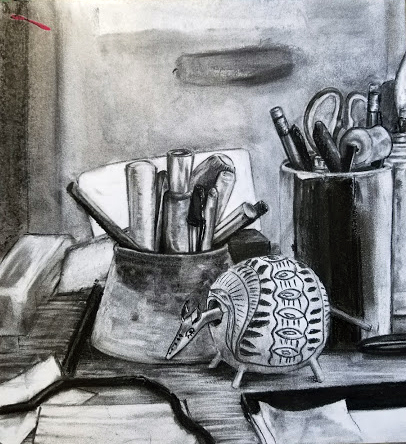 Still life by instructor, Veronica Hallock.