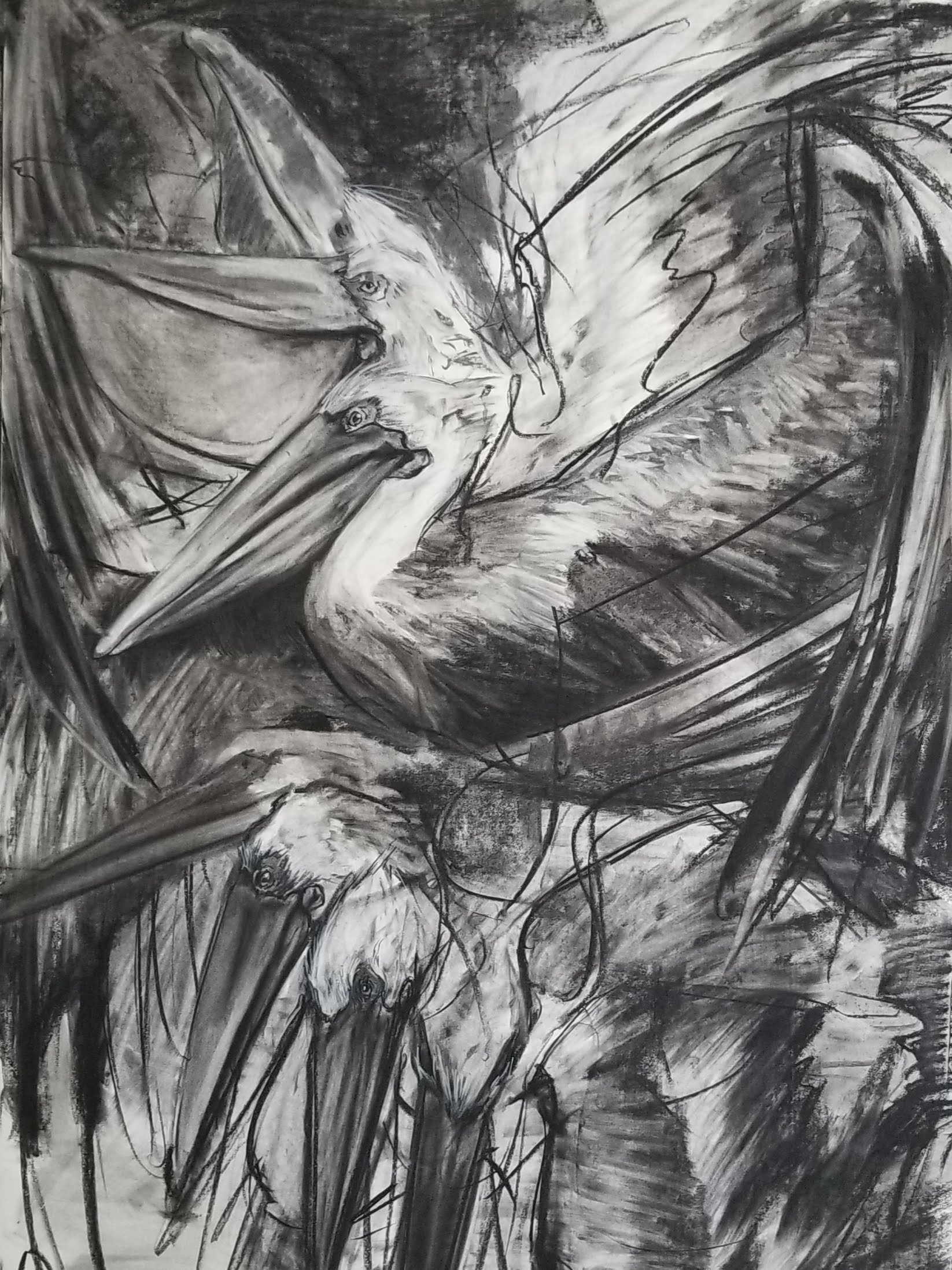 Drawing by instructor, Veronica Hallock.