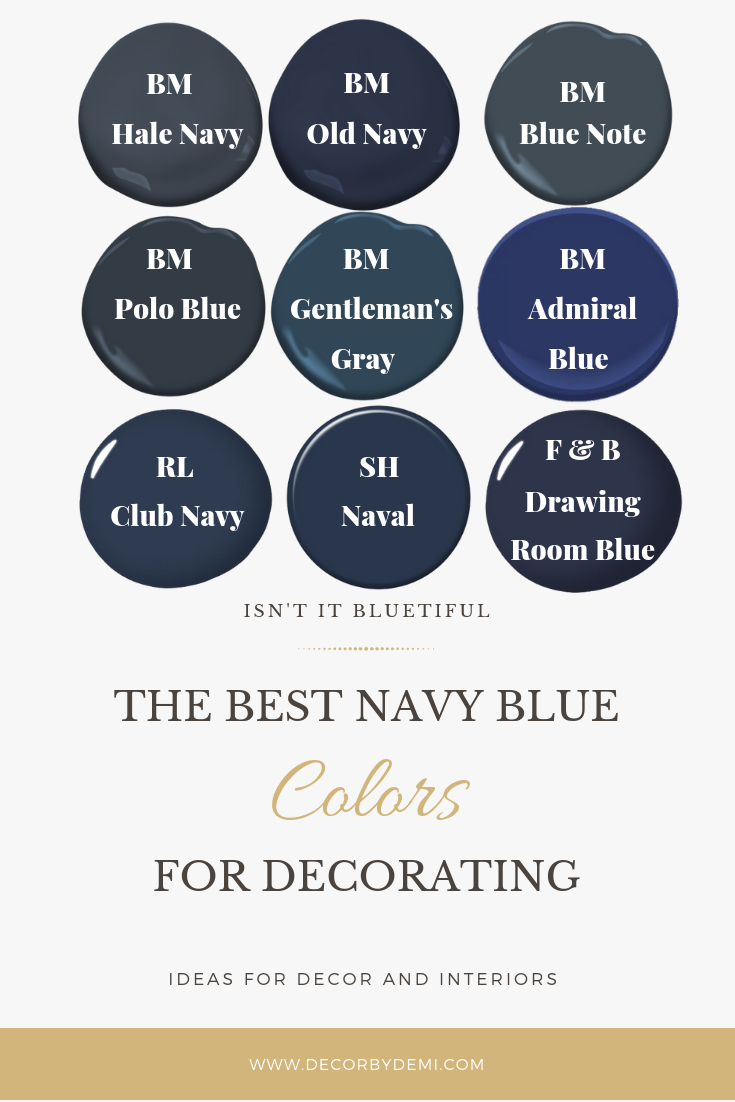 Navy Is The New Neutral Decor By Demi