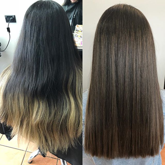 Before and after done today  Soft natural tones