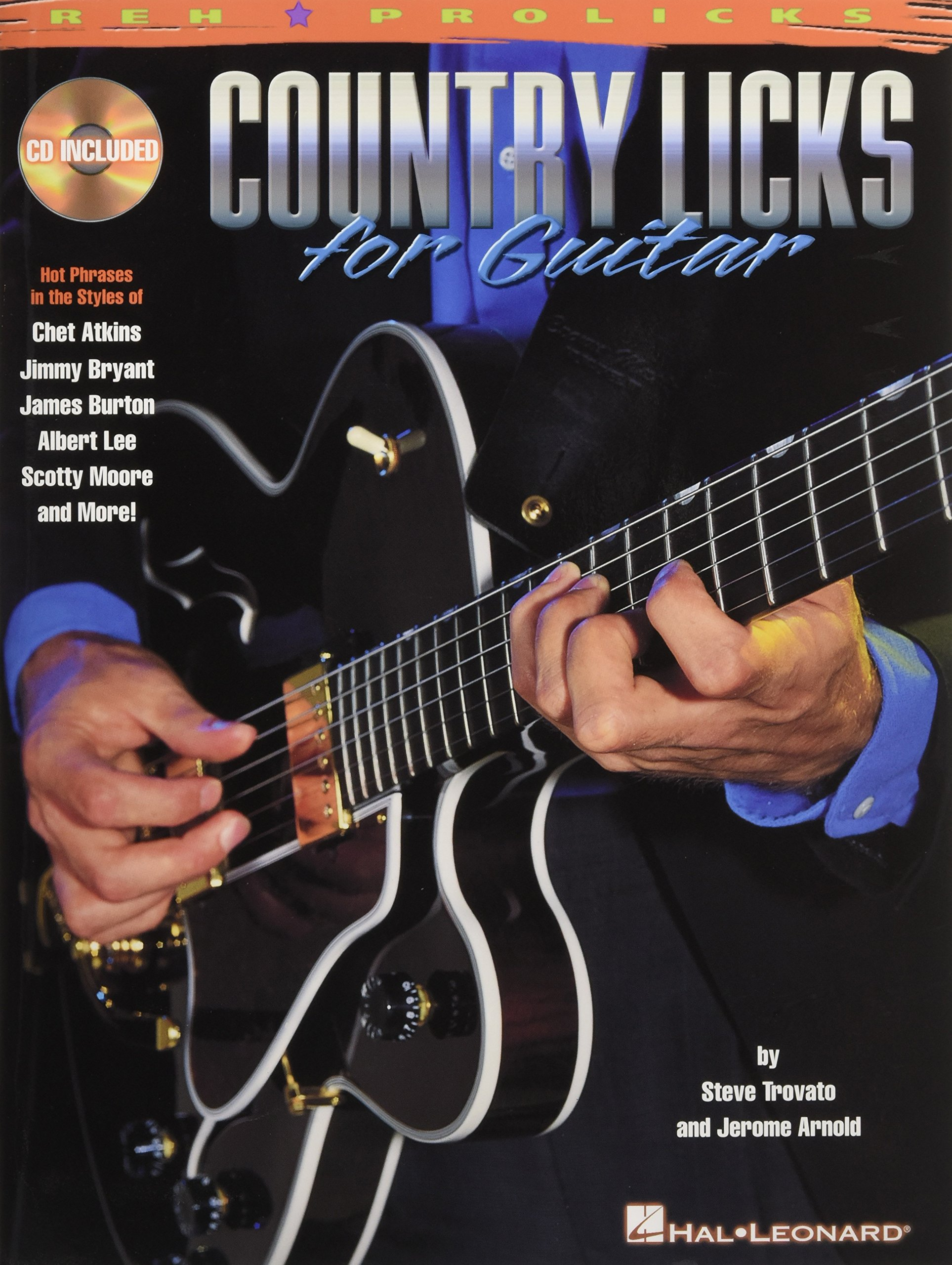Country Licks for Guitar - This unique package examines the lead guitar licks of the masters of country guitar, such as Chet Atkins, Jimmy Bryant, James Burton, Albert Lee, Scotty Moore and many others! The accompanying online audio available using the unique code in the book includes demonstrations of each lick at normal and slow speeds. The instruction covers single-string licks, pedal-steel licks, open-string licks, chord licks, rockabilly licks and funky country licks, plus tips on fingerings, phrasing, technique, theory and application, and more. In standard notation and tab.