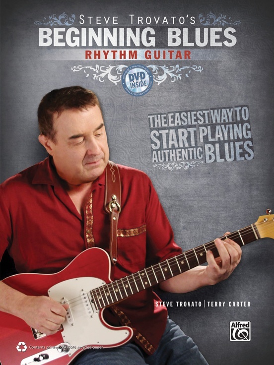 Beginning Blues: Rhythm Guitar - This book and DVD kit focuses on blues rhythm guitar techniques and features both standard music notation and TAB. On the DVD, Steve Trovato guides you through every lesson and music example.