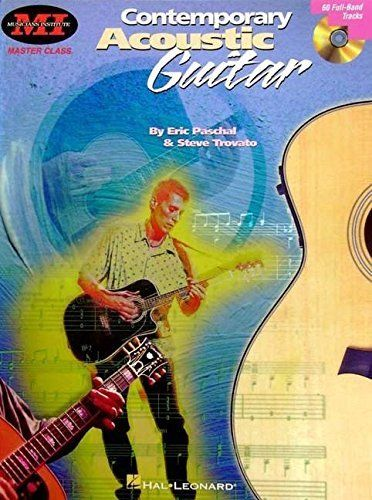 Contemporary Acoustic Guitar - This book designed from elective courses taught at the famous Musicians Institute is the definitive source for playing acoustic guitar! Topics covered include: basic chords and rhythms; chord embellishments; fingerpicking patterns; blues, ragtime, new age, folk and other styles; drop D and other alternate tunings; and more! The accompanying CD includes 60 full-band tracks, and examples are written in standard notation and TAB.