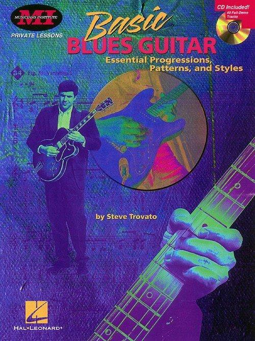 Basic Blues Guitar - Play rhythm guitar in the style of Stevie Ray Vaughan, B.B. King, Chuck Berry, T-Bone Walker, Albert King, Freddie Green, and many other blues greats! The CD includes 40 full-demo tracks and the instruction covers all styles of blues and the essential chords, patterns and riffs.