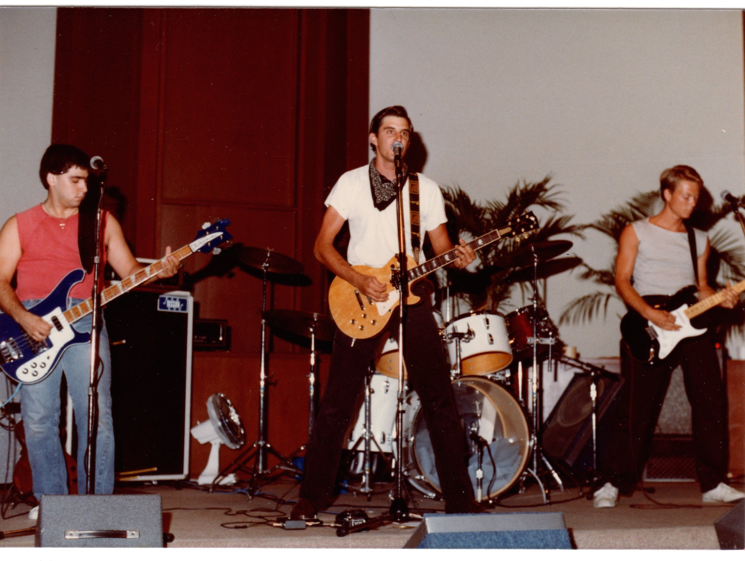 July 1982, first gig at 1st Baptist church Fullerton