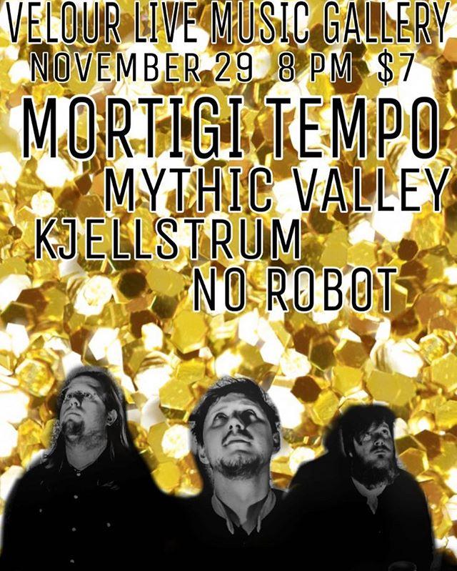 Provo. UT. 11/28. Thursday. We've missed you.  #livemusic #rock #provo #nightlife #rocknroll #pyschedelic #local #velourmusic #velour #utah #utahgram #music #localmusic #utahcounty