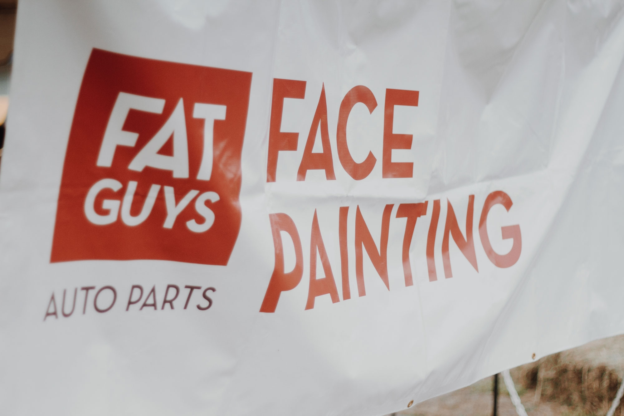 Fat Guys Face Painting Station