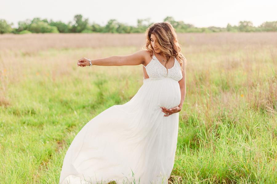 flowy pregnancy dress