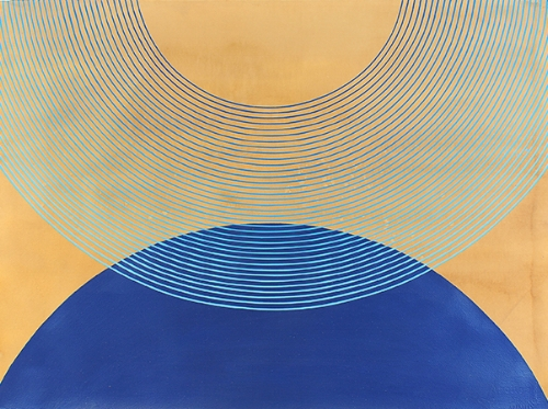 Kelly Ording, Lapis, acrylic on dyed paper, 22 x 30 in.