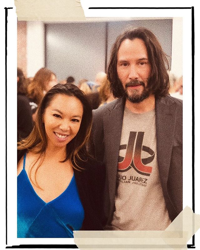 We both love art + culture 💯 . . . #keanu #keanureeves #johnwick #toystory #alwaysbemymaybe