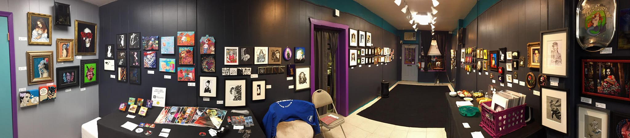 Panoramic shot by Jessica Davis of Calvaria during the Holiday HeART show 2018
