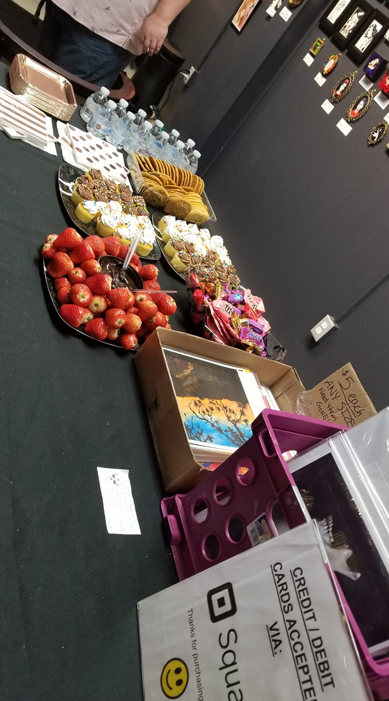The spread for the show