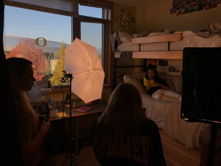 Allen Hall Media shoots b-roll for the UO Common Reading client.