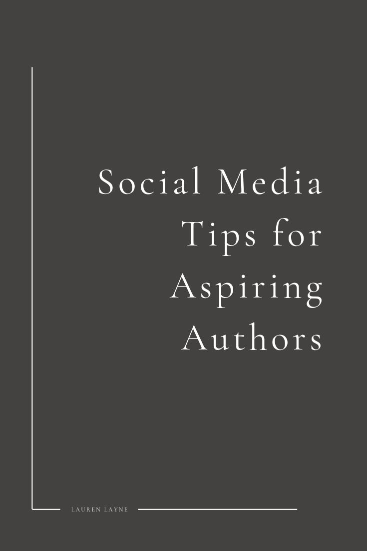 Social Media for Aspiring Authors