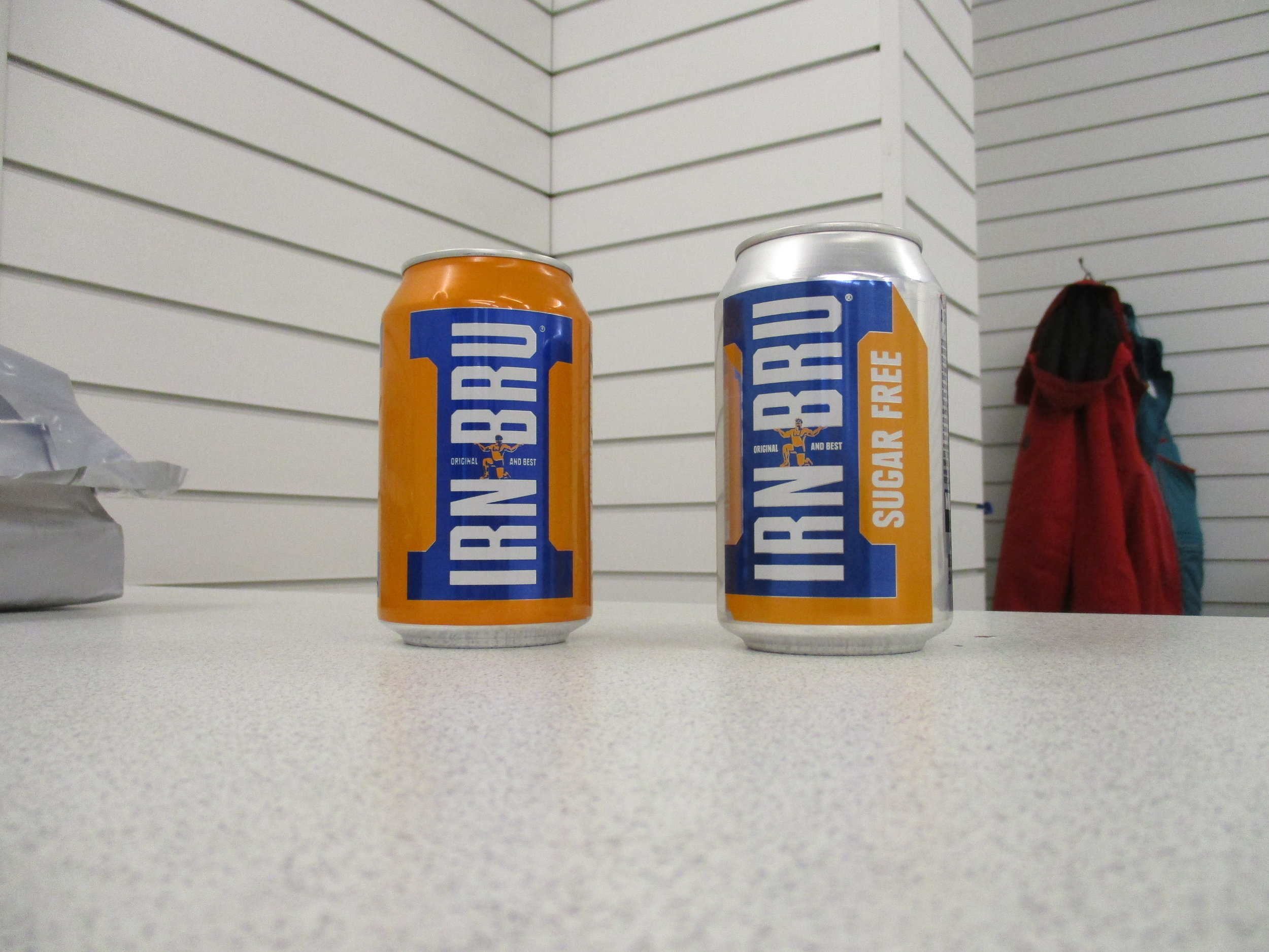 For those of you in England, Irn Bru is also available in Cannes.