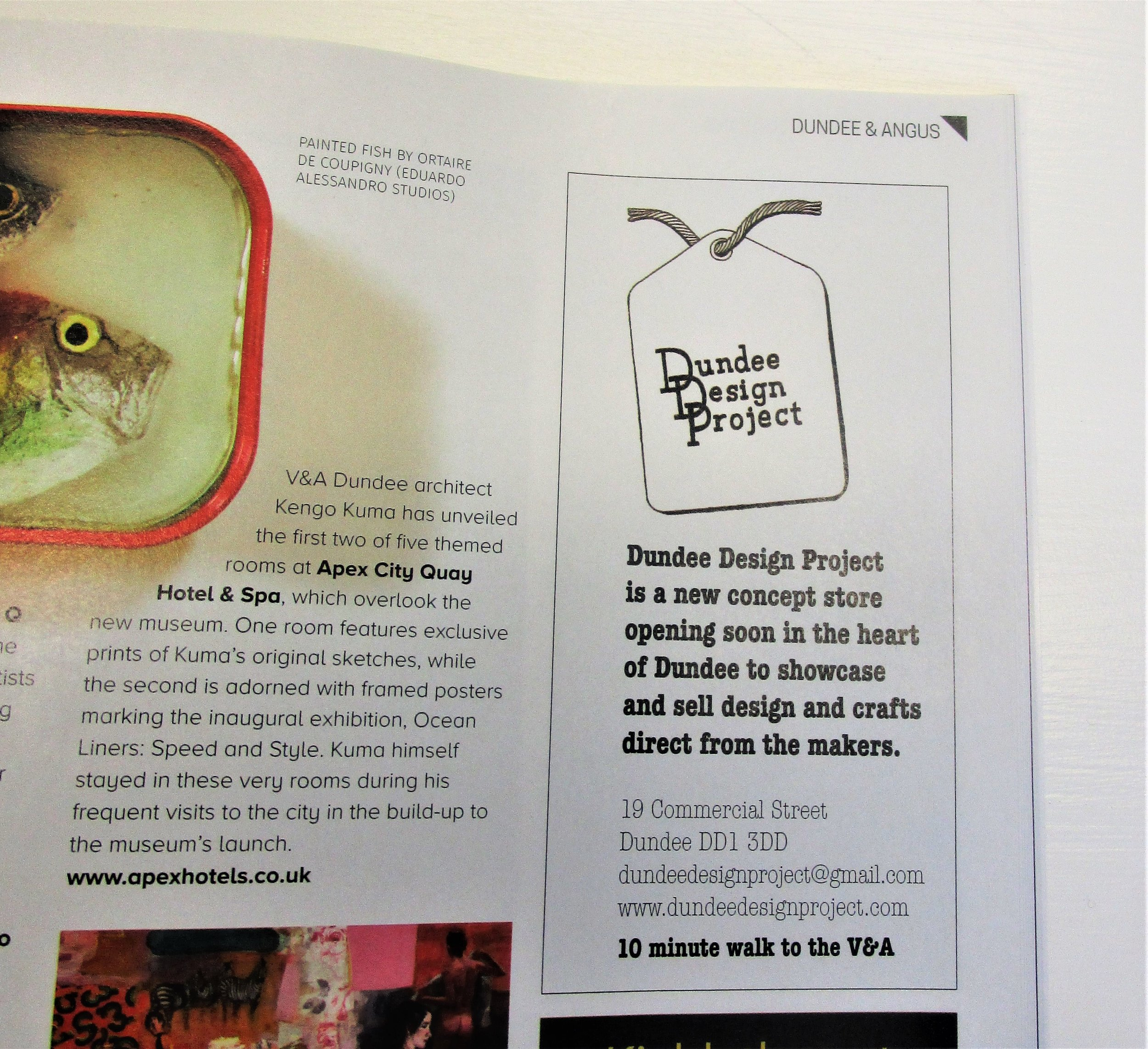 Then our latest advertisement in the October/November issue of art mag.