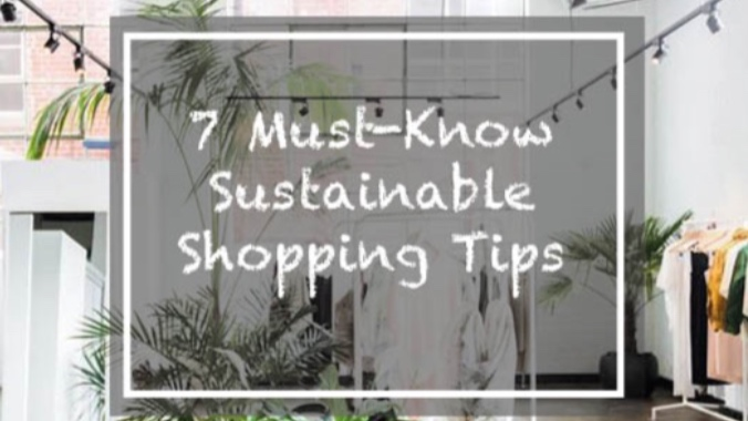 Seven Sustainable Shopping Tips -