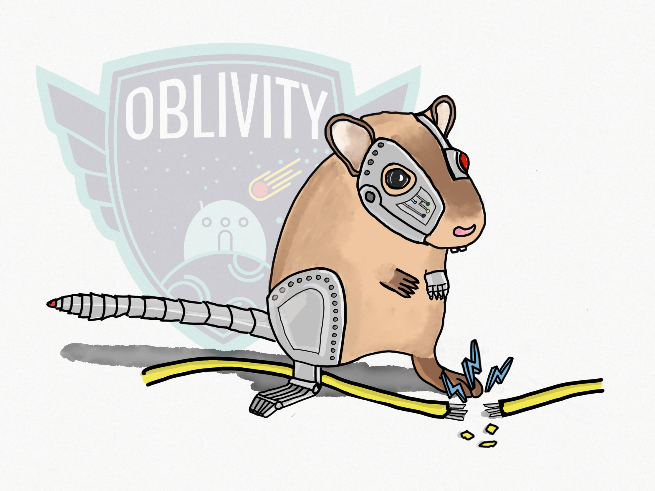 A MALEVOLENT BUT OH-SO-CUTE CYBERGERBIL - IMAGINED BY JAMES STRINGER