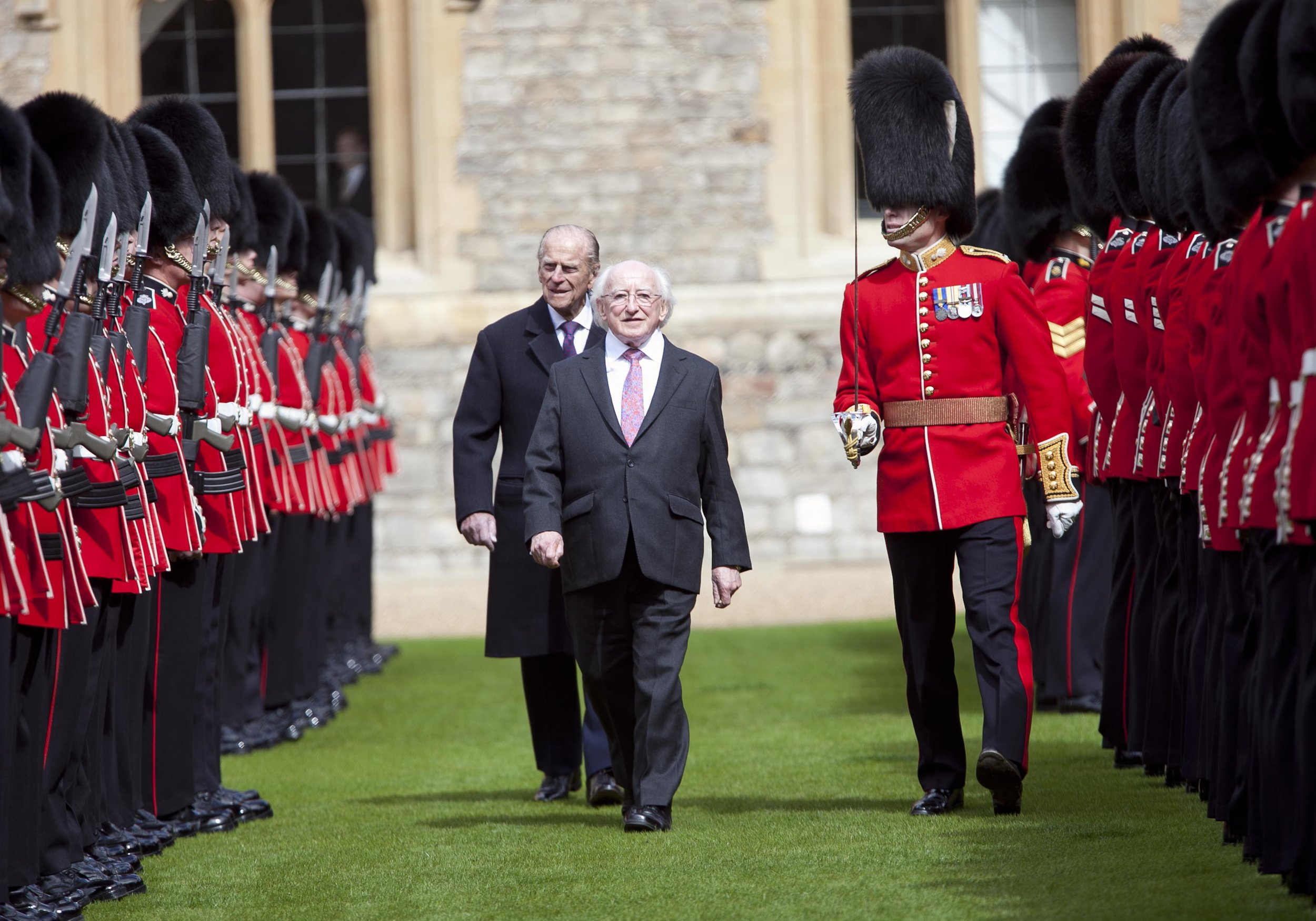 President Michael D Higgins historic state visit to the UK wearing his bespoke Johnson Tailor Suit
