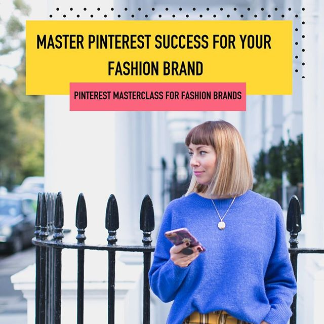 Okay guys...  So many of you ask me about Pinterest and if it's a good place to grow your fashion business.  And whether you are fashion stylist, blogger or brand my answer is always yes!   But I know Pinterest can feel overwhelming, even if you have been on it for a while.   How does it even work as a platform? What do I pin? How often? What kind of graphics convert? and WHAT THE HELL is a smart loop?! Why I am doing what others are doing but nothing seems to be working?   But more importantly, how do I fit in yet another platform into my already busy schedule? Are just a few of the questions I get asked about this platform.... this last one more than the others.   I get it too.  It can seem like adding another way to market your fashion business is just filling you with dread.  I mean Instagram can feel like a full time job in itself!   That's why I am running my Pinterest workshop next Monday 18th Feb to take you through everything you need to know to get you started and to take away that feeling of dread.   There is no magic formula, but as you know, I am a big promotor of setting up a strategy that works for you and this workshop will do just that! It will give you the tools to set you up so you can get on your way with your Pinterest success for your fashion business without taking up to much time 🙌🏻  Go to my link in the bio for your ticket to this intimate, tailored workshop.  There's only 3 tickets left so be quick!  . . . . #pinterestfashionmarketing #pinterestsuccess #pinterestproblems #pinterestworkshop #pinteresttips #fashionpinterest #businessoffashion #pinterestgeek #pinteresting #womeninfashion #marketingforsmallbusiness #pinteresthelp #pinterestobsessed