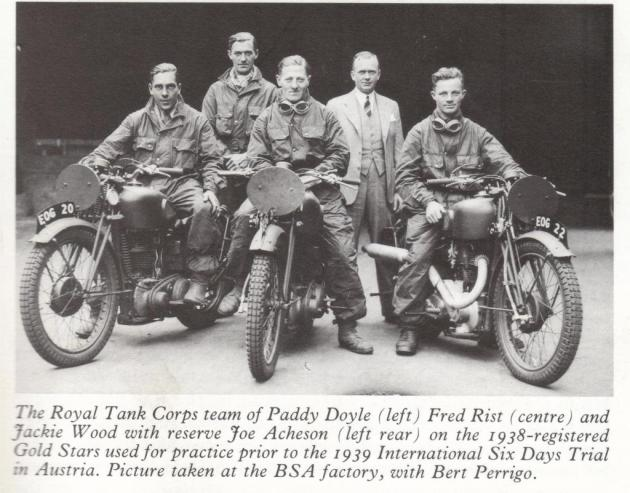 The 1939 ISDT race was put on by the Nazi Party. This team of soldier-racers barely escaped after Hitler ordered the invasion of Poland while the race was unfolding. Theirs was the real motorcycle 'Great Escape'.