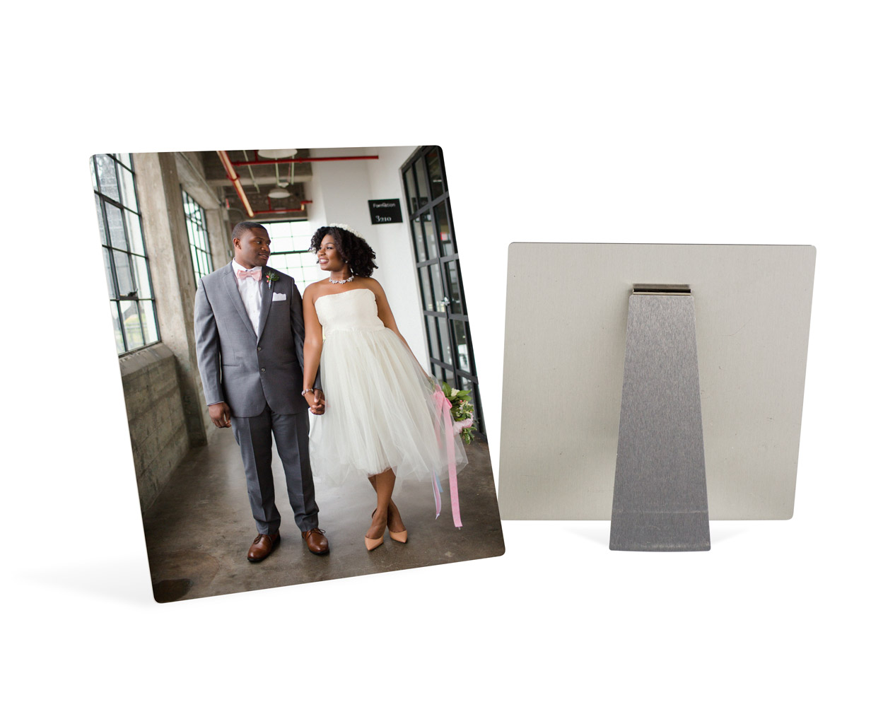 Metal prints are a modern option for printing your images and brightening up any workspace or home. Display with an easel or go for a dramatic stand alone statement 4x6 - 30x60 inch white gloss finish makes images pop with rich colors. Metals steal the show!