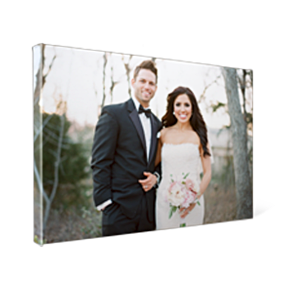 Premium canvas wraps are an artistic way to display your portraits.