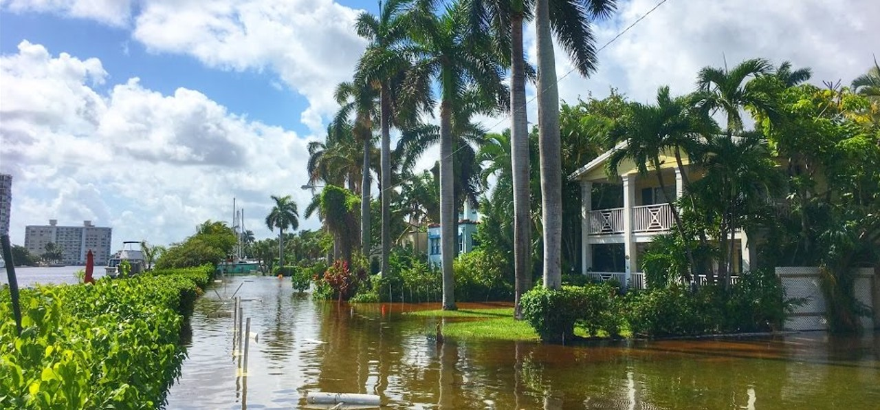 Delray Beach after a King Tide in 2016 (Photo Credit: Larry Richardson)