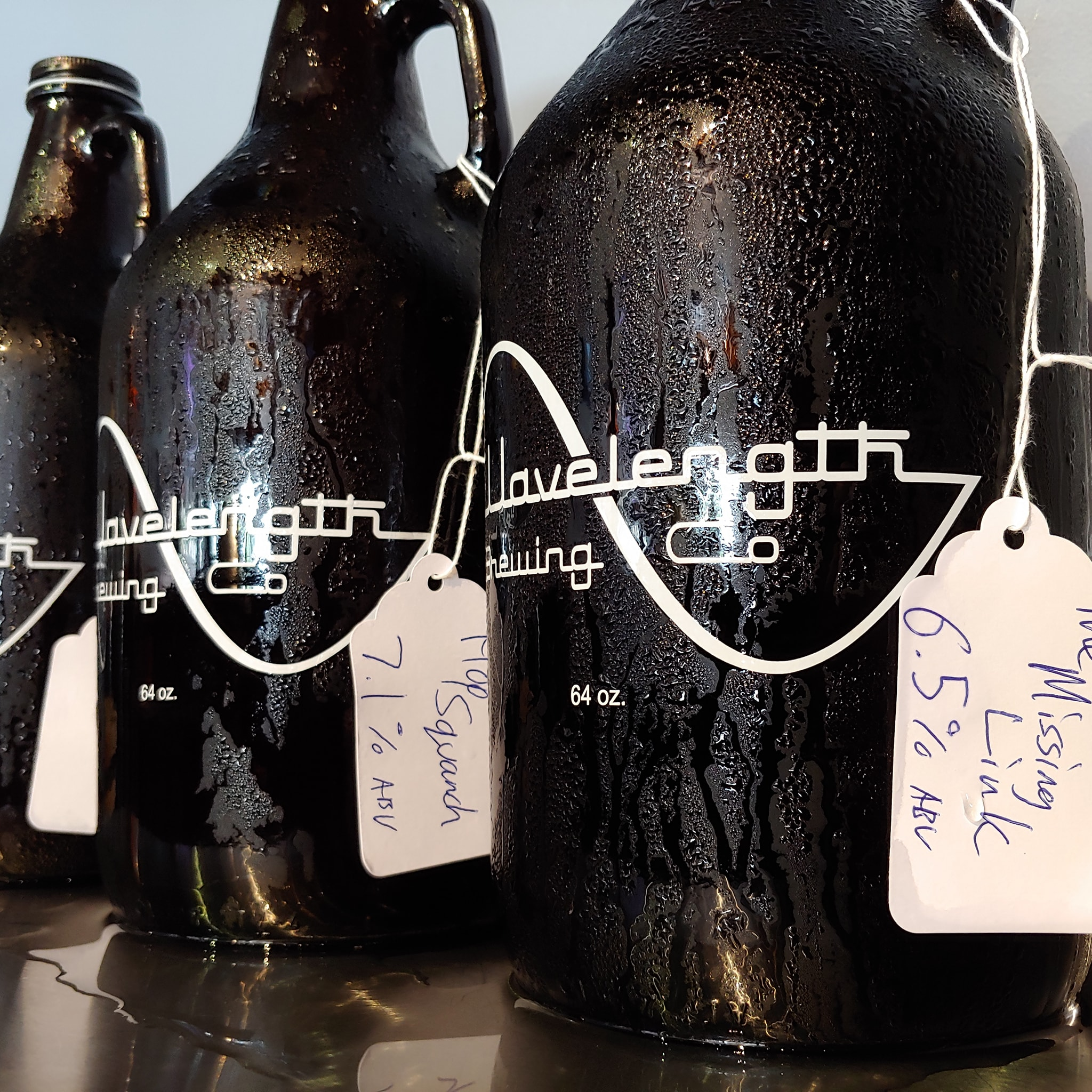 Beer-To-Go In Both 32oz & 64oz Growlers.