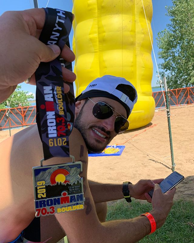 #medalmonday for Energy Athletes @asgbee and @d_sola1 on their epic Boulder 70.3 performances! Proud of their accomplishments and looking forward to their next races ⚡️ #energyendurancecoaching #triathlon #triathlete #trilife #trilove #tritraining #tricoach #usatcoach #training #endurance #ironmantri #ironmantraining #fitness #fitlife #multisport