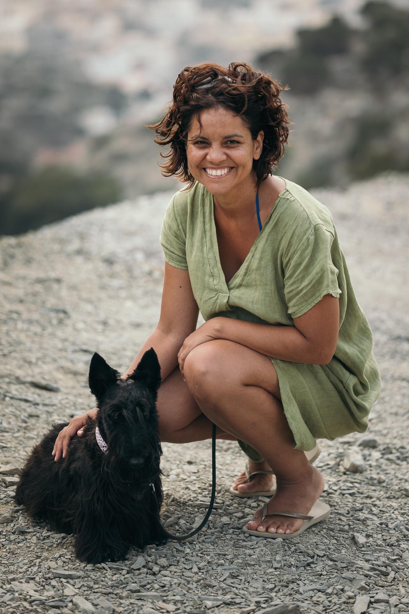 - With my beloved Scottish Terrier, Kali