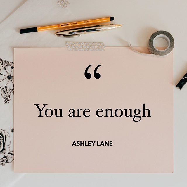 YOU ARE ENOUGH... Some days we need this reminder more than others. Double tap and comment with a 💗 if you needed to hear this today ⠀ .⠀ Remember:⠀ .⠀ You are exactly where you need to be at this very moment in your life.⠀ .⠀ Trust that the universe has a plan for you.⠀ .⠀ Know that you are loved just the way you are.⠀ 💗💗💗