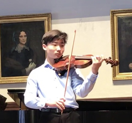 GERALD KIM - Gerald Kim is a sophomore at Fairfield Ludlowe High School. He started playing violin 7 years old and is currently studying with Wendy Sharp. He is a member of Greater Bridgeport Youth Principal Orchestra and plays in a string quartet coached by Asya Meshberg. He has participated in the Chamber Music Central as well as Chamber Music Institute for Young musicians in summer. He was a winner of American Chamber Orchestra concerto competition 2018 and a finalist of GBYO concerto competition last year. He has played violin at the church worship as a volunteer. Besides music, he has a 3rd degree black belt in TaeKwondDo and plays tennis. He loves teaching younger kids as a junior instructor in Taekwonddo and as a mentor at McKinley Elementary School in Fairfield.