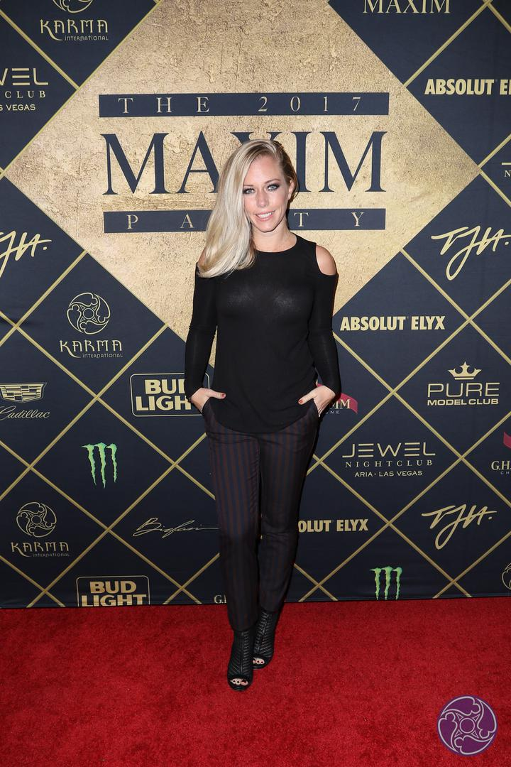 Kendra Wilkinson arrives at the 2017 Maxim Super Bowl Party