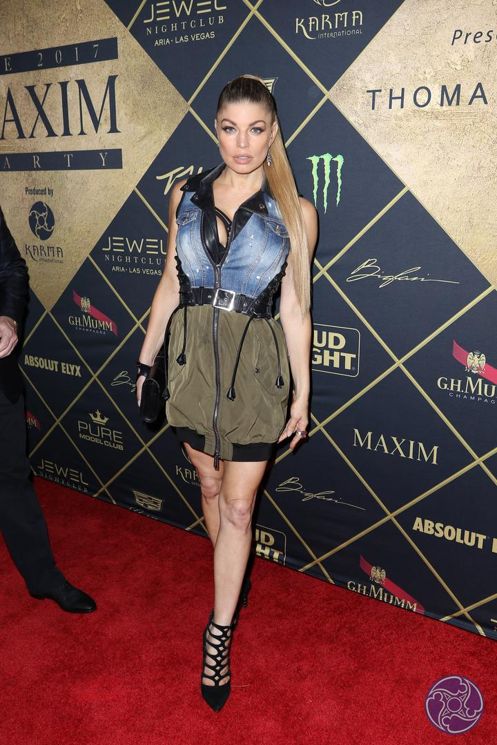 Fergie arrives at the 2017 Maxim Super Bowl Party