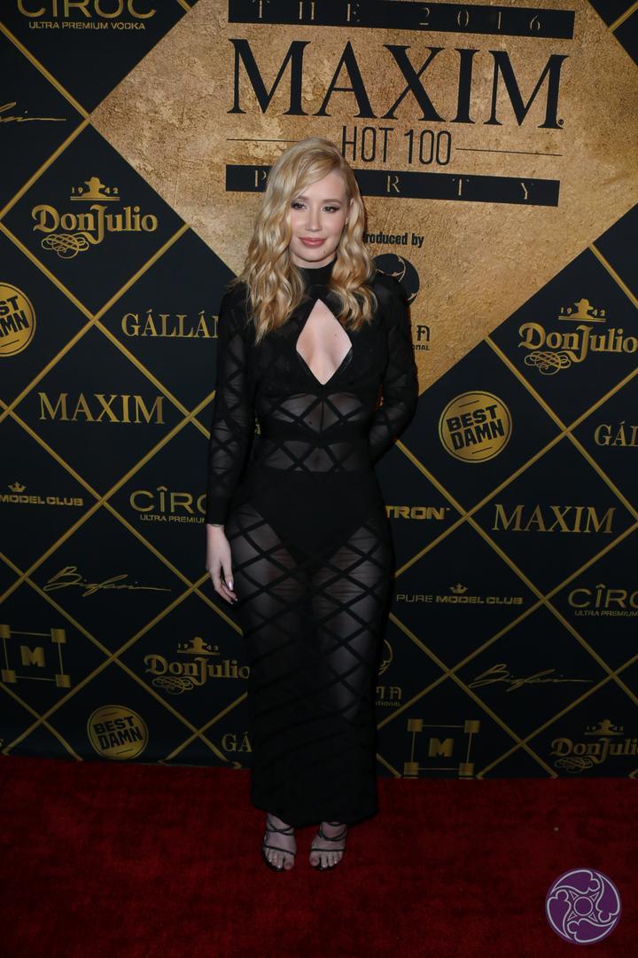 Iggy Azalea arrives at the 2016 Maxim Hot 100 Party