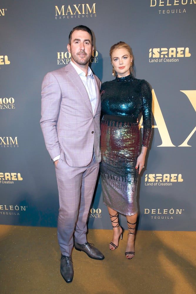 Kate Upton and Justin Verlander at the 2018 Maxim Hot 100 Experience