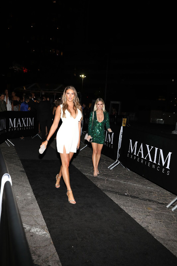 Maxim's Finest models arrive at the 2018 Maxim Hot 100 Experience