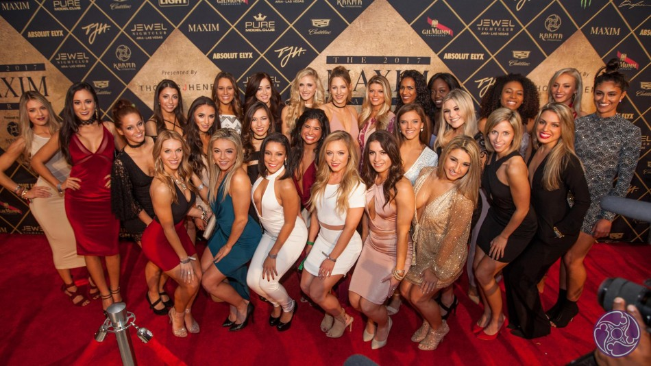 The New England Patriots Cheerleaders stopped by the 2017 Maxim Super Bowl Party in Houston