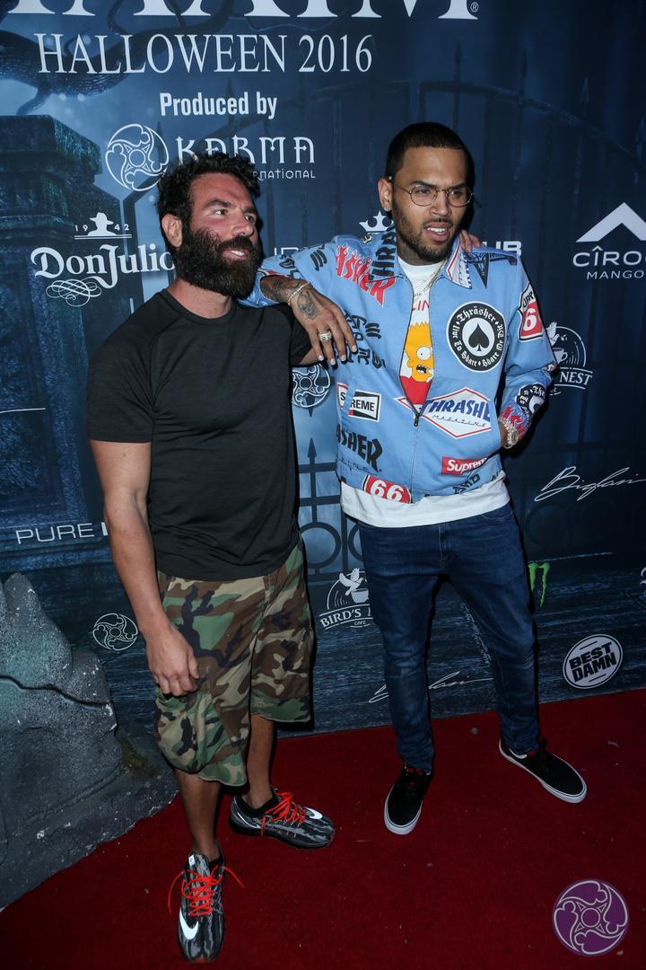 Dan Bilzerian and Chris Brown at the 2016 Maxim Halloween Party