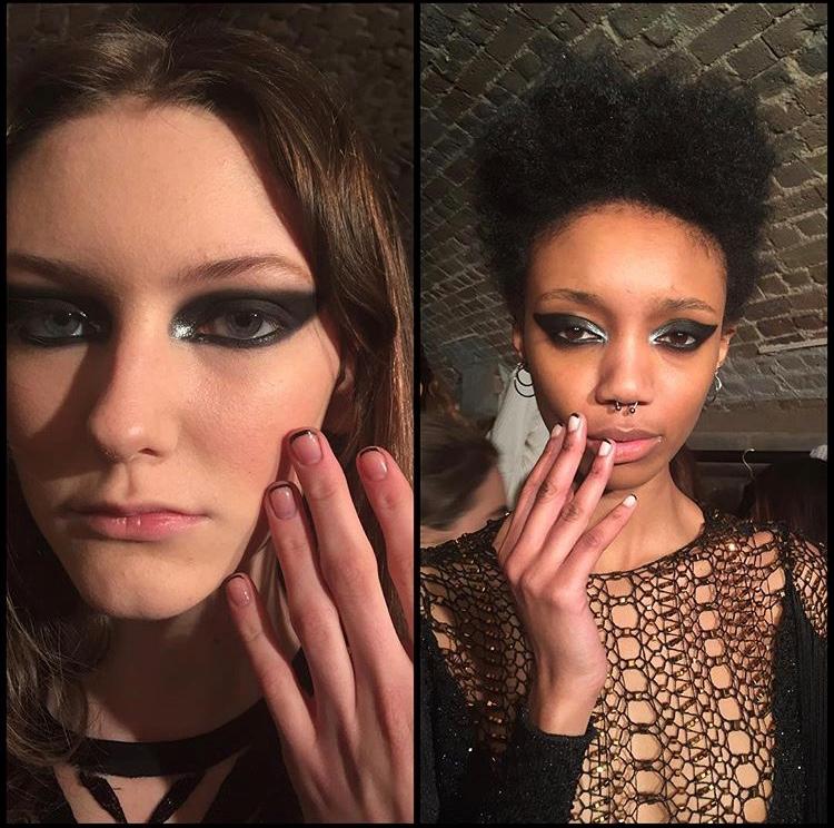 London Fashion Week Julien MacDonald AW16 assisting Jenni Draper