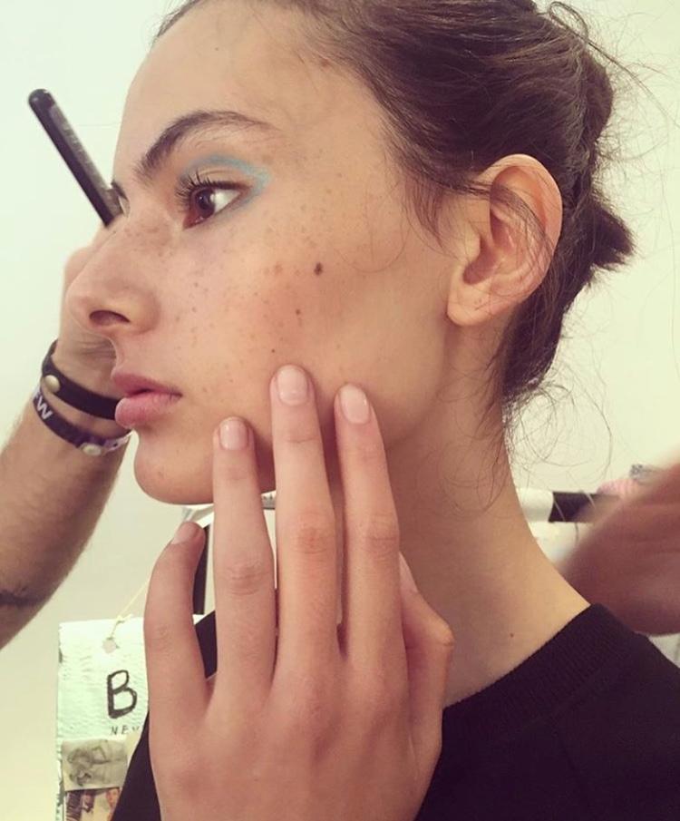 London Fashion Week Edeline Lee SS17 assisting Lyndsay McIntosh